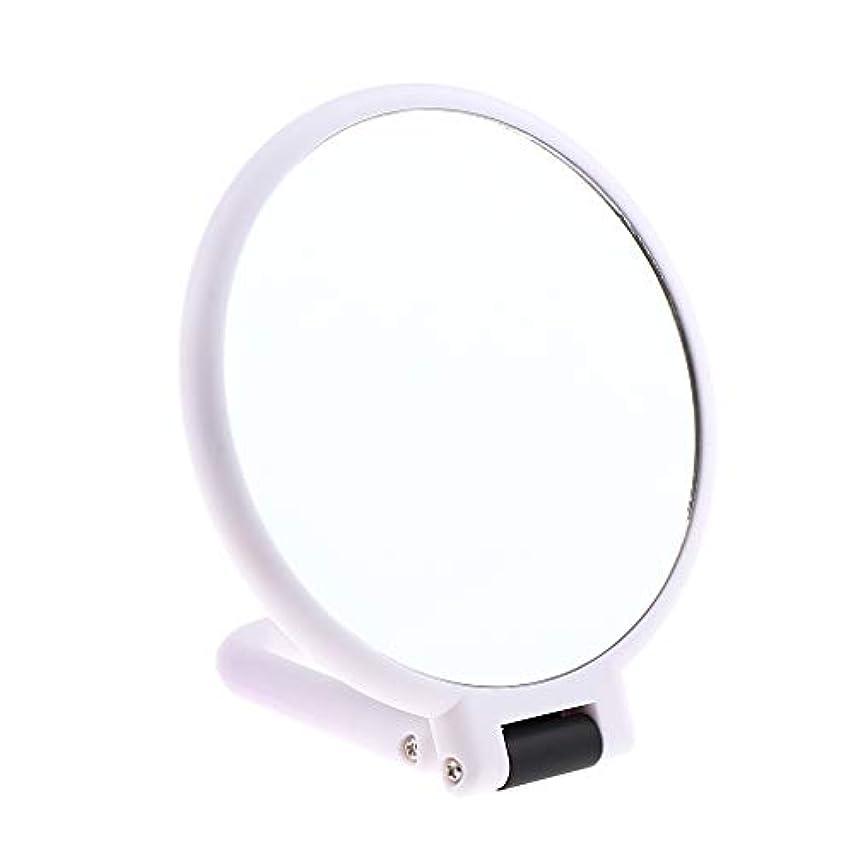 懐疑論拍車限定両面化粧鏡 拡大鏡 ラウンド メイクアップミラー お化粧 ホワイト 5仕様選べ - 10倍