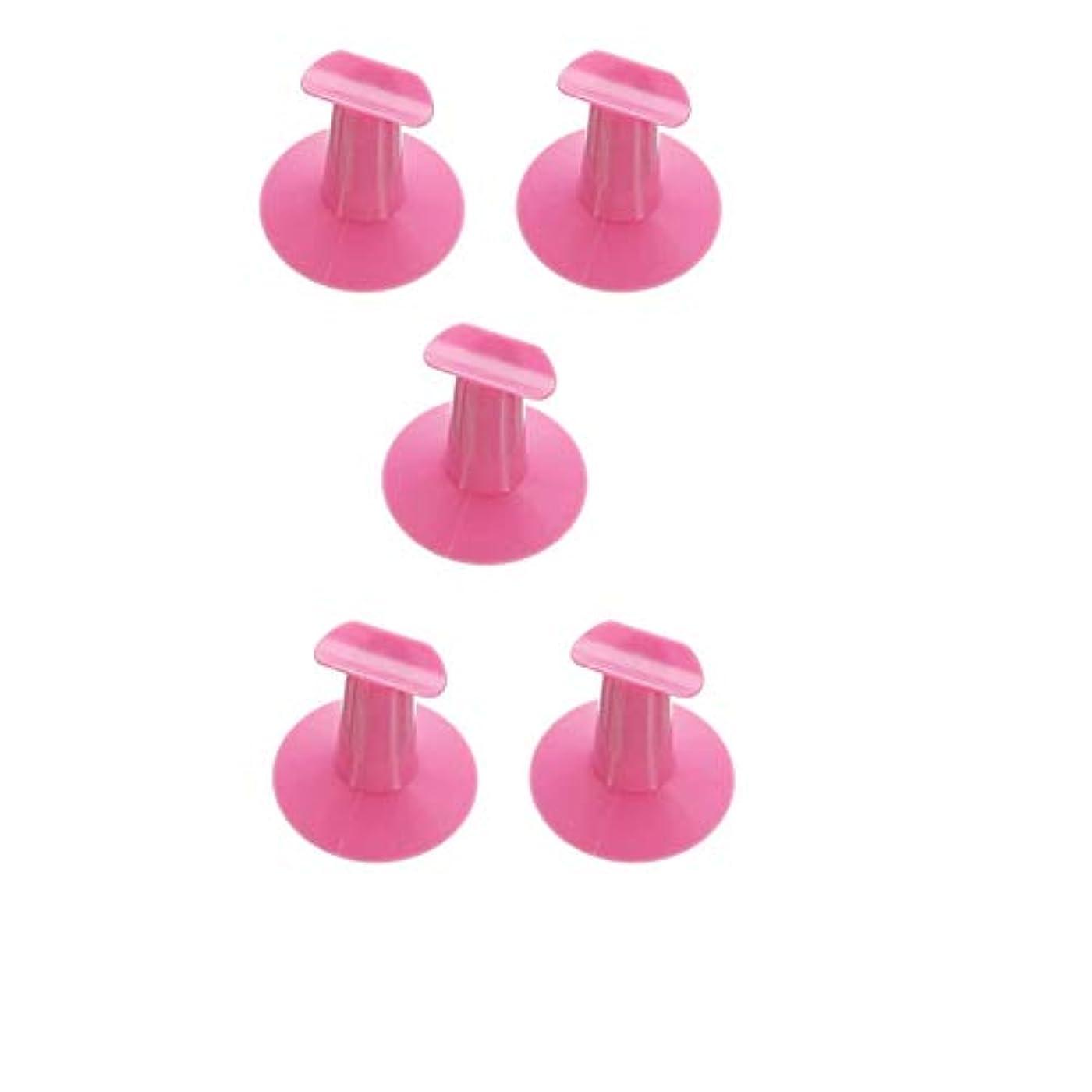 抜本的ななめらか定期的な5つのハードプラスチック製の交換用爪立って支持台DIYネイルアートデザイン絵画サロンランダムな色
