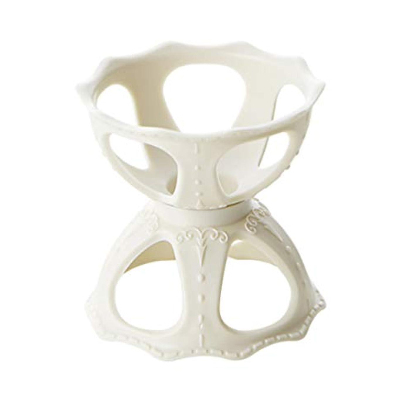 モットートライアスリートうねるFrcolor メイクスポンジスタンド パフホルダー パフ乾燥用スタンド 化粧用パフ收納 カビ防止 小型軽量 3個セット(ホワイト)