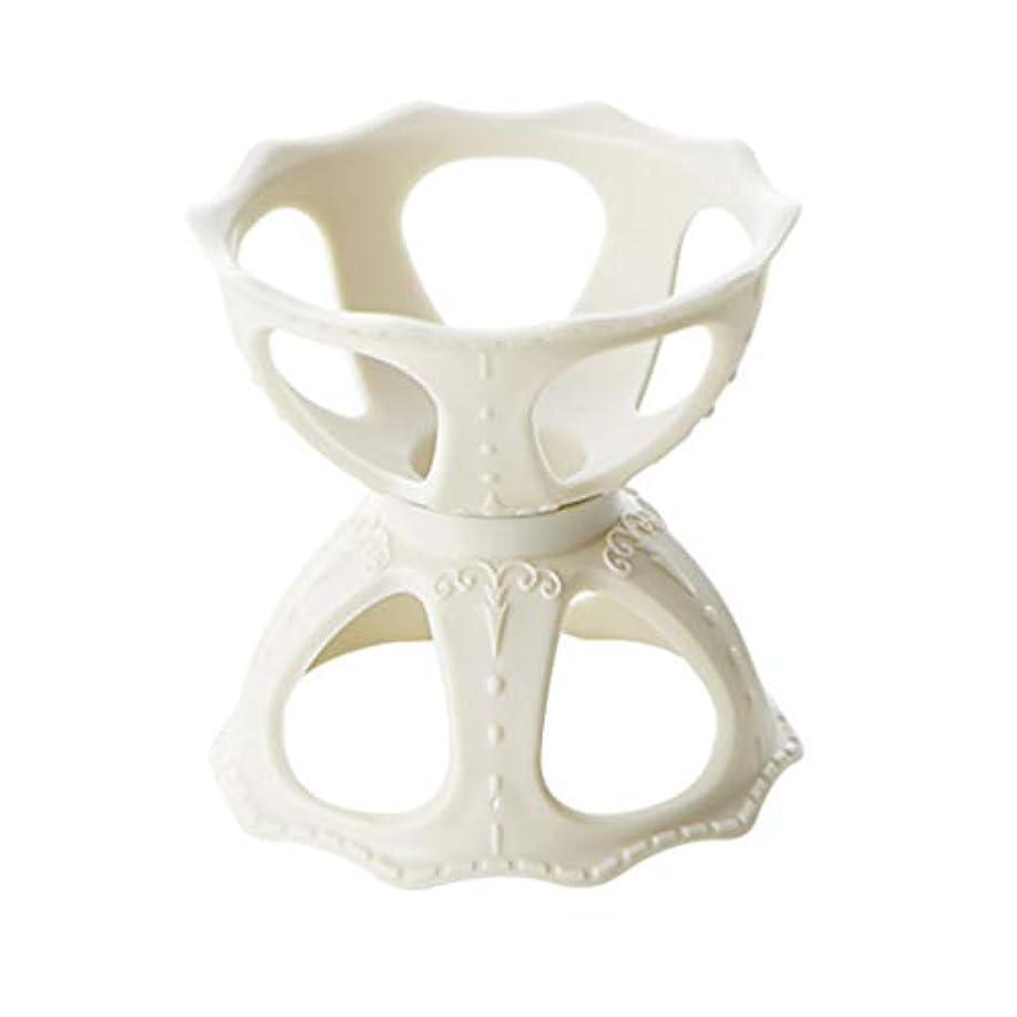 リングレット連鎖記念碑的なFrcolor メイクスポンジスタンド パフホルダー パフ乾燥用スタンド 化粧用パフ收納 カビ防止 小型軽量 3個セット(ホワイト)