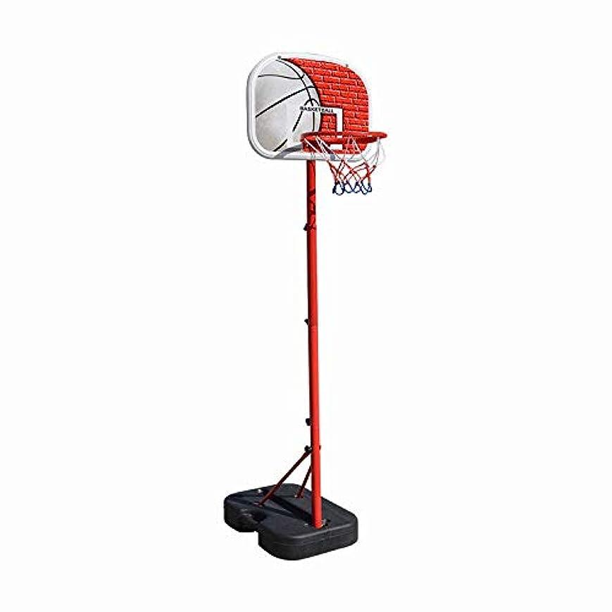 に沿って退化するフットボール子供のバスケットボールラックは屋内で育てたり下げたりすることができます1?10歳の男の子のホームシューティングラックのおもちゃです。/ A