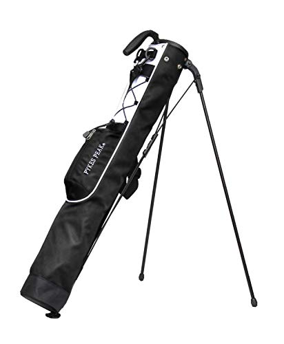 PYKES PEAK 【軽量 980g 全11色 7本収納】セルフスタンド ゴルフ クラブ ケース 【フード 大型ポケット付き】クラブケース2019年最新版 (BLACK)