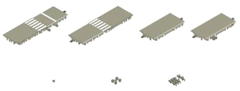 トミーテック ジオコレ バスコレ走行システム X-003交差点拡張セットA T字路 ジオラマ用品