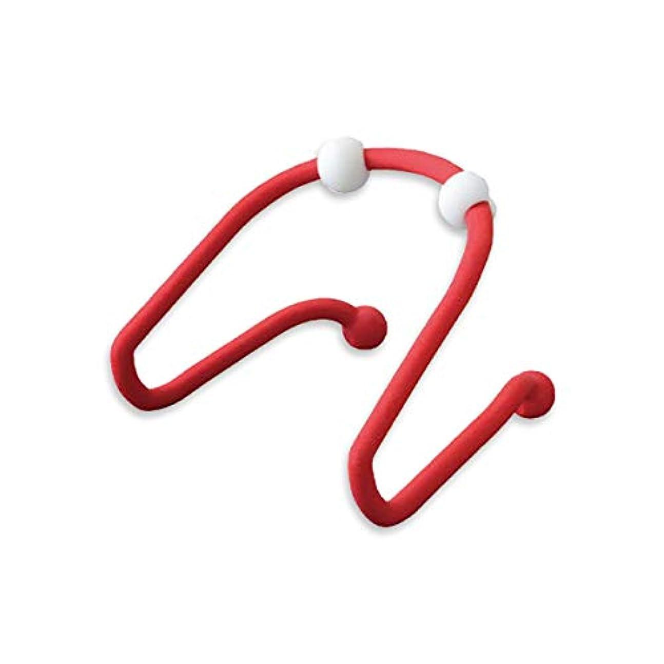 軽急襲被害者HAMILO 首用ツボ押しマッサージ器 ネック 首用マッサージ器 ツボ押し器 首 肩 (レッド)