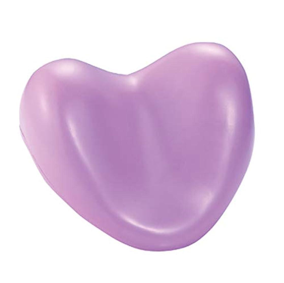 キャリア会員獲物サクションカップ付きウェルネスバスピローハート型PUフォームサポート枕温水浴槽とスパ浴槽,Purple