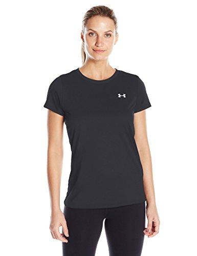 アンダーアーマー レディーススポーツウェア Tシャツ 18S UA TECH SSC - SOLID 1277207 0LF レディース BLK/MSV