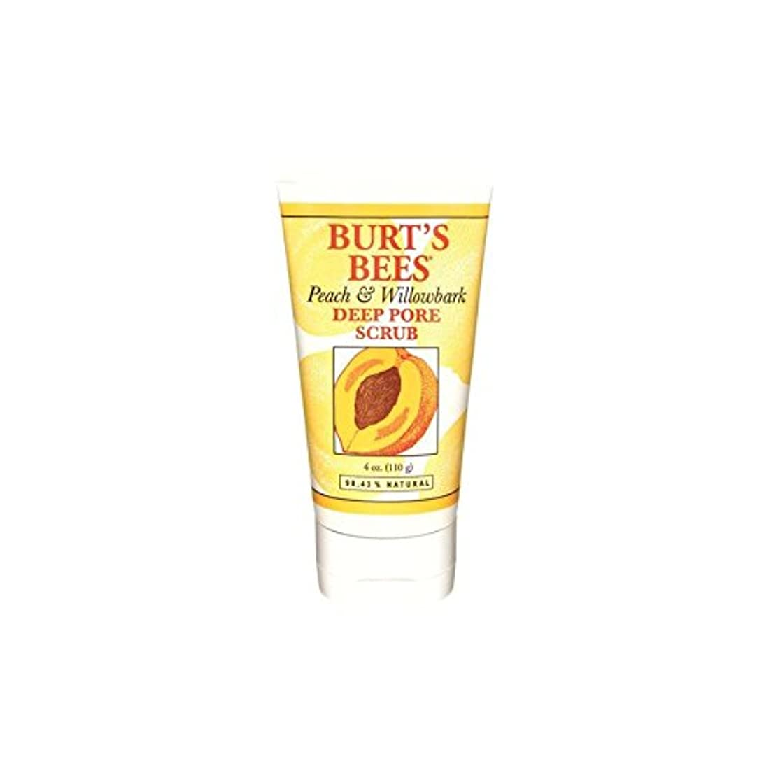 大胆なウィスキー珍味Burt's Bees Peach & Willowbark Deep Pore Scrub (4 Oz / 110G) - バーツビーの桃&深いポアスクラブ(4オンス/ 110グラム) [並行輸入品]
