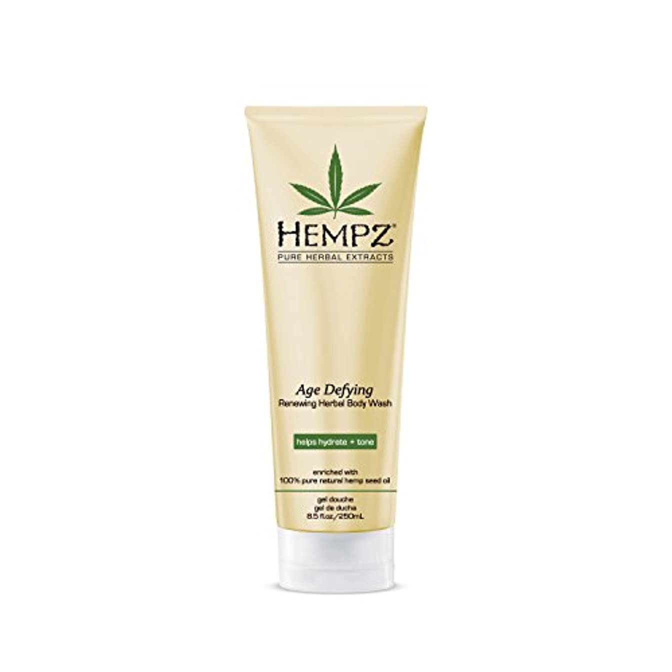 回転させる欠席芽Hempz Age Defying Herbal Body Wash, Off White, Vanilla/Musk, 8.5 Fluid Ounce