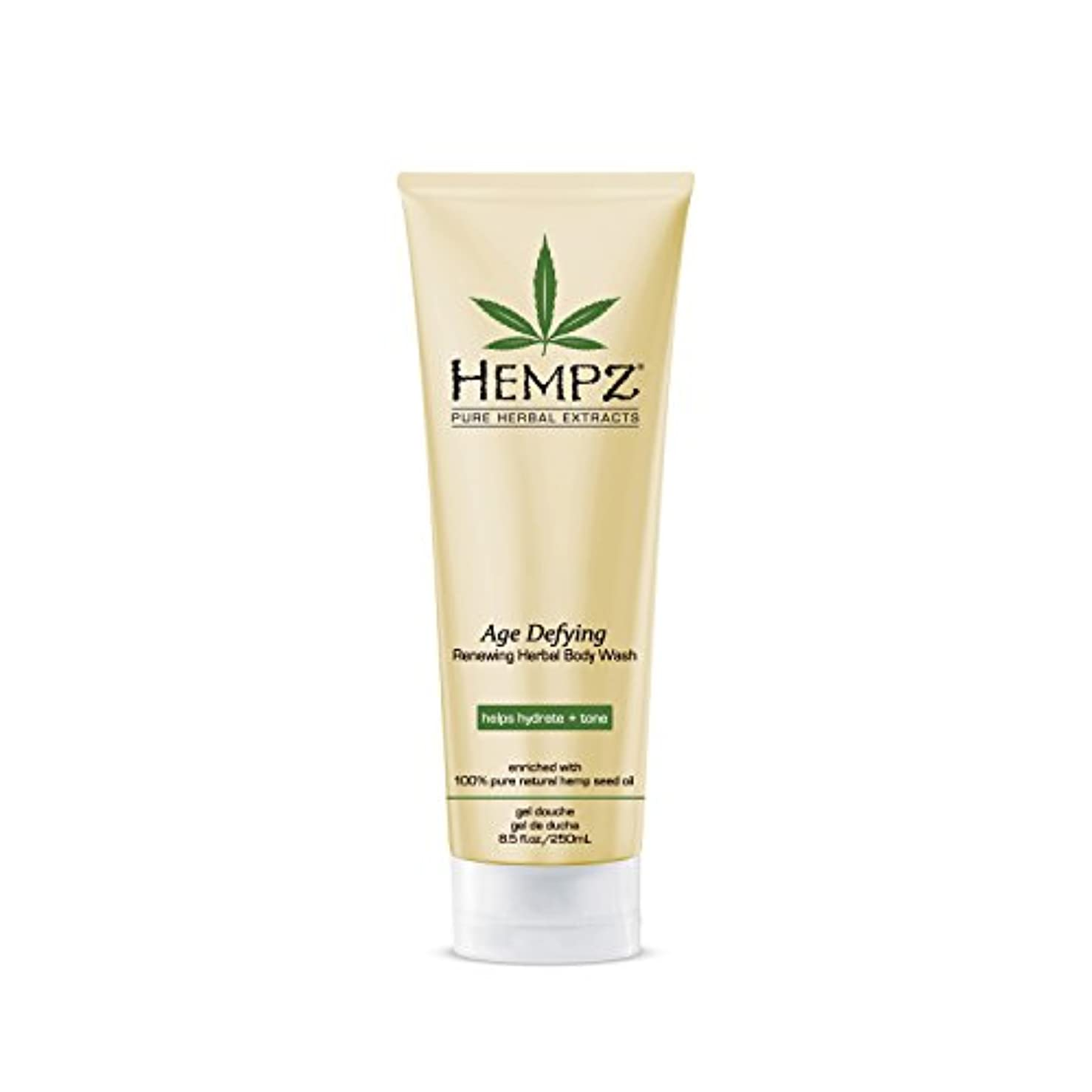 フリッパースカイなだめるHempz Age Defying Herbal Body Wash, Off White, Vanilla/Musk, 8.5 Fluid Ounce