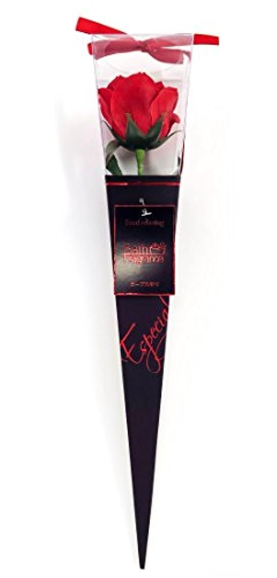 クローゼットコットンマイクロバスフレグランス フラワーフレグランス プレミアムkelee レッド 1輪 お花の形の入浴剤 ギフト ばら