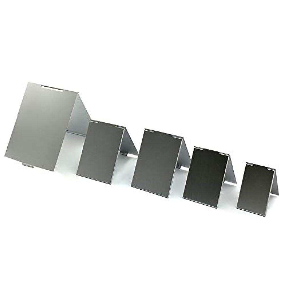 協力的にもかかわらず独特のMoomai 化粧鏡 折りたたみミラー 卓上スタンドミラー プロモデル折立ナピュアミラー 超薄い 超軽量 高品質 レディース 化粧用品 シルバー