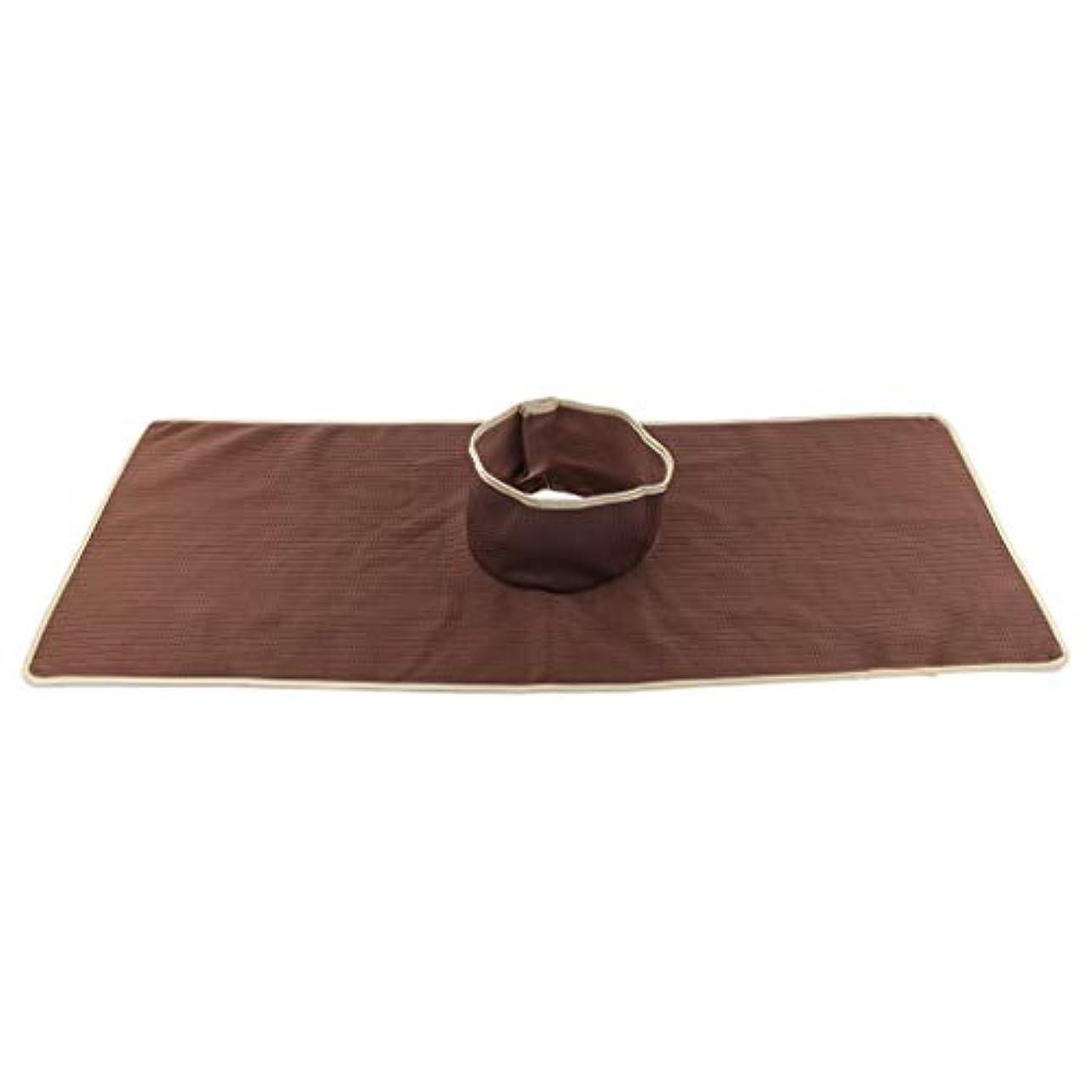 時期尚早リーズほめるサロン マッサージベッドシート 穴付き 衛生パッド 再使用可能 約90×35cm 全3色 - コーヒー