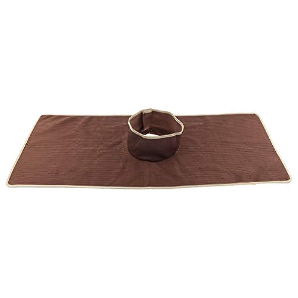 ぼかすカート木材サロン マッサージベッドシート 穴付き 衛生パッド 再使用可能 約90×35cm 全3色 - コーヒー