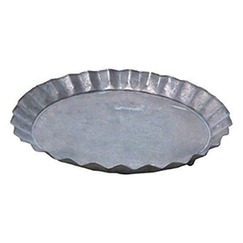 - 2個入 - / ブリキ製植木鉢用受け皿/ソーサー / - ブラウン / 直径28cm - / キャンディーソーサーBR / 『ウーノ』