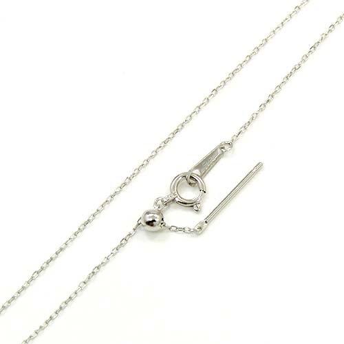 [해외]18 금 화이트 골드 슬라이드 핀 팥 체인 목걸이 (폭 0.75mm · 길이 45cm | 길이 조절 및 탈착 가능 * 당기 고리 플레이트) (D128I-K18WG) -T/18 gold white gold slide pin red bean chain necklace (width 0.75 mm · length 45 cm | length adjus...