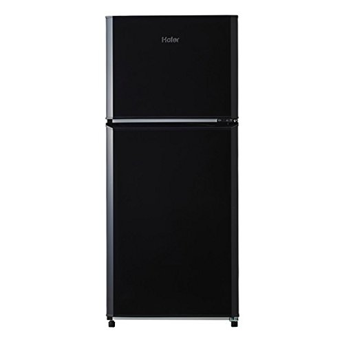 ハイアール 121L 2ドア冷蔵庫(直冷式)ブラック【右開き...