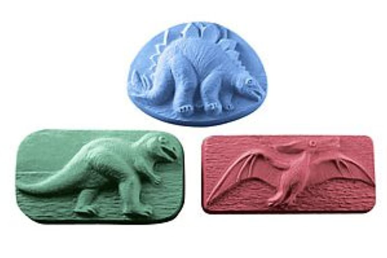地味なわずかな柔らかいミルキーウェイ 恐竜 【ソープモールド/石鹸型/シートモールド】