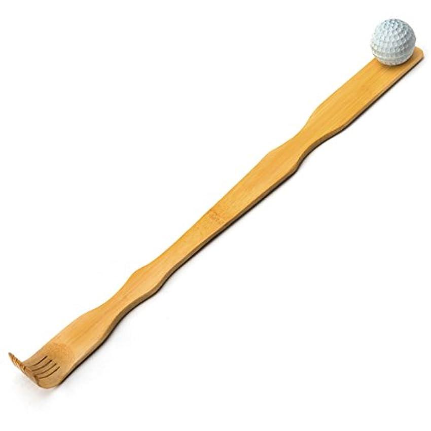 移行する商人満たすTungSam 竹製孫の手一本 背中かゆみを止め マッサージ用,マッサージボール付き