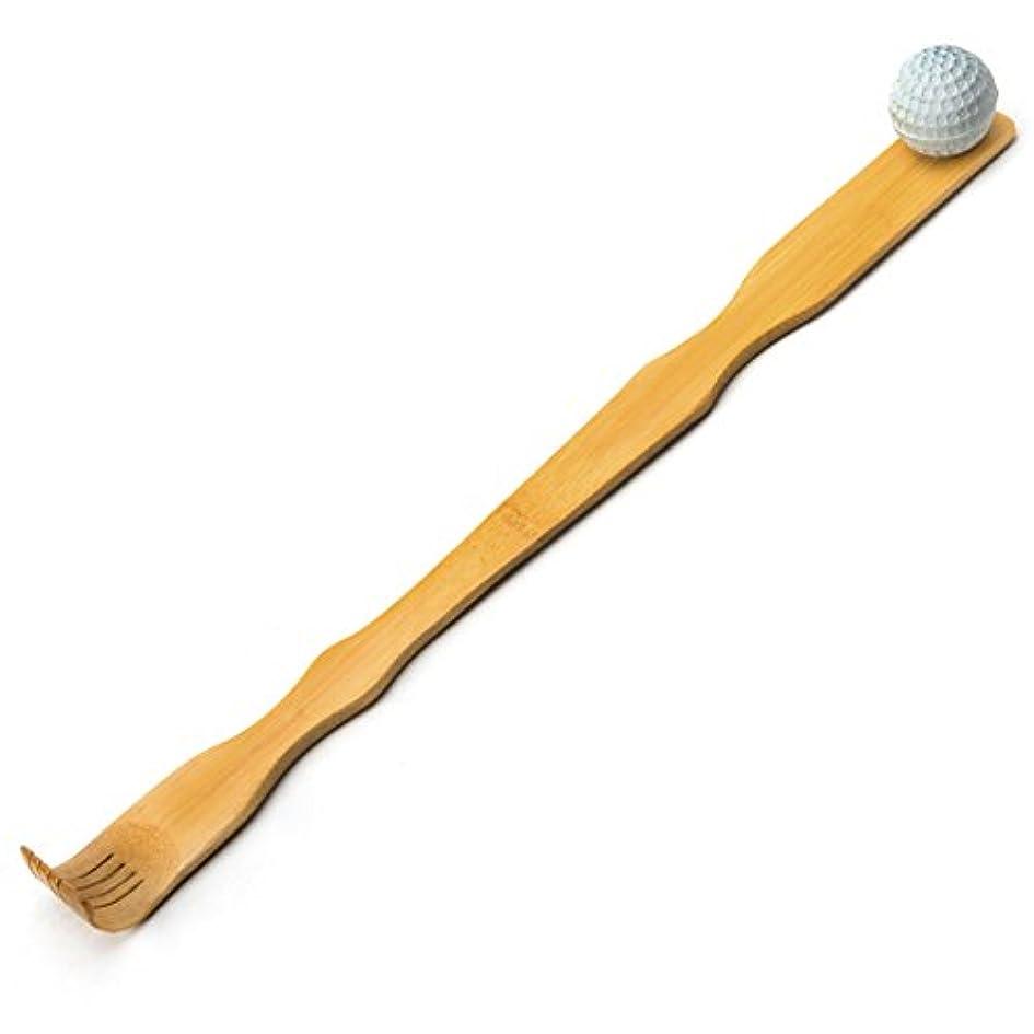 既に化学タールTungSam 竹製孫の手一本 背中かゆみを止め マッサージ用,マッサージボール付き