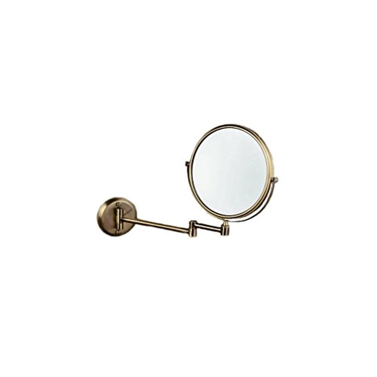糞日没インタラクションJTWJ グリーンブロンズ壁掛け美容ミラー浴室壁掛けミラー格納式化粧鏡レトロミラー