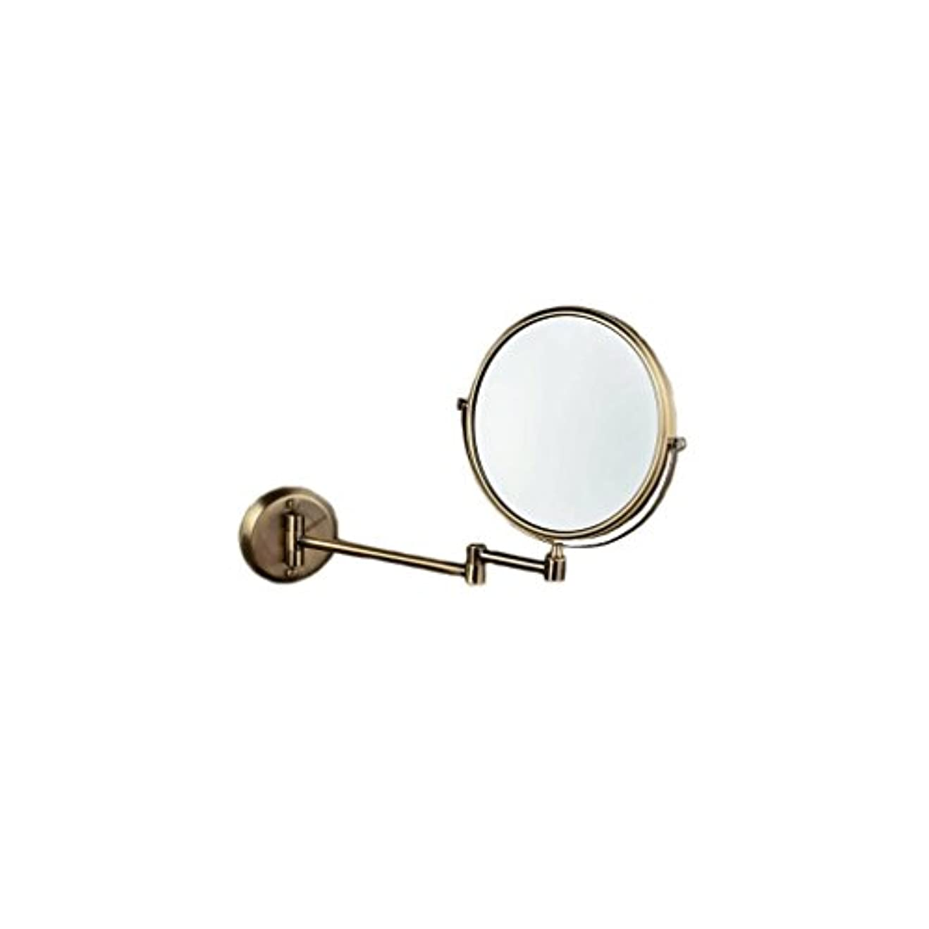 逸脱ピラミッド祝福JTWJ グリーンブロンズ壁掛け美容ミラー浴室壁掛けミラー格納式化粧鏡レトロミラー
