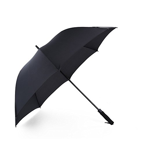 Obolts 長傘 傘 特大150センチ レディース メンズ 雨傘 梅雨対策 日傘 大きな傘 自動開けステッキ傘 紳士傘 耐風傘 超撥水 晴雨兼用 ビジネス用 ゴルフ用長傘 大型軽量 自動開けステッキ傘 梅雨対策 紳士傘収納ポーチ付き (ブラック)