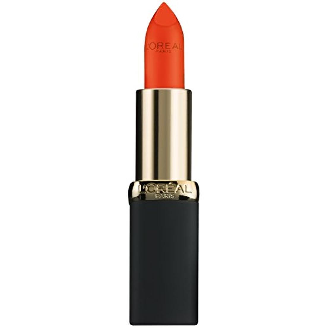 背骨バリケード不信L'Oréal Colour Riche Matte Lipcolour (100 MATTE AT BAT)