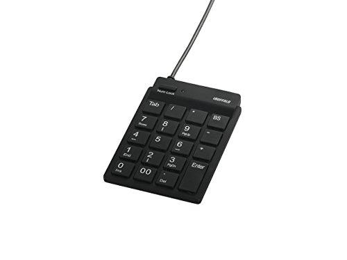 iBUFFALO バッファロー スリムテンキーボード Tabキー付き ブラック BSTK11BK