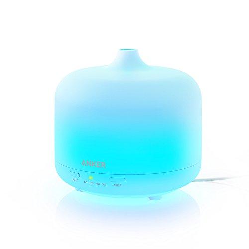 Anker エッセンシャルオイルディフューザー 250ml 超音波加湿器 【アロマセラピー / 7色カラー / 自動停止機能搭載】 リビング、オフィス、ヨガスタジオ用