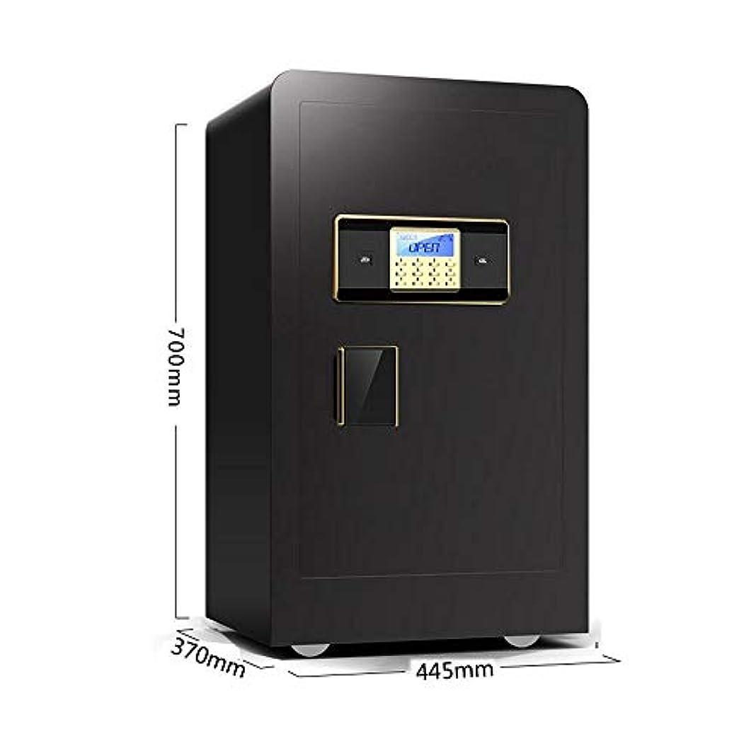 商人関係曲セキュリティセーフボックス ホーム安全なデジタルキーパッドLEDライトインジケータ32ミリメートルスチールロックボルト緊急オーバーライドキー キャッシュセーフ (Color : Black, Size : A)