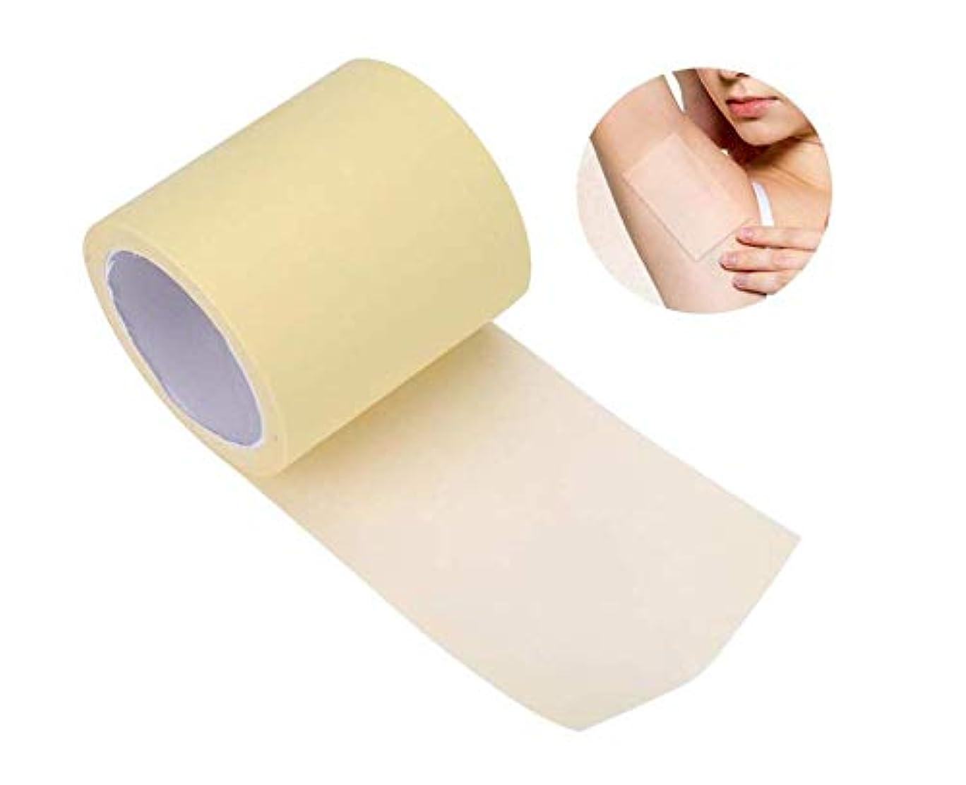 フォアマンバリア緊張Minmincats 脇の下汗パッド 汗止めパッド 皮膚に優しい 脇の汗染み防止 抗菌加工 皮膚に優しい 男性/女性対応 透明 全長6m
