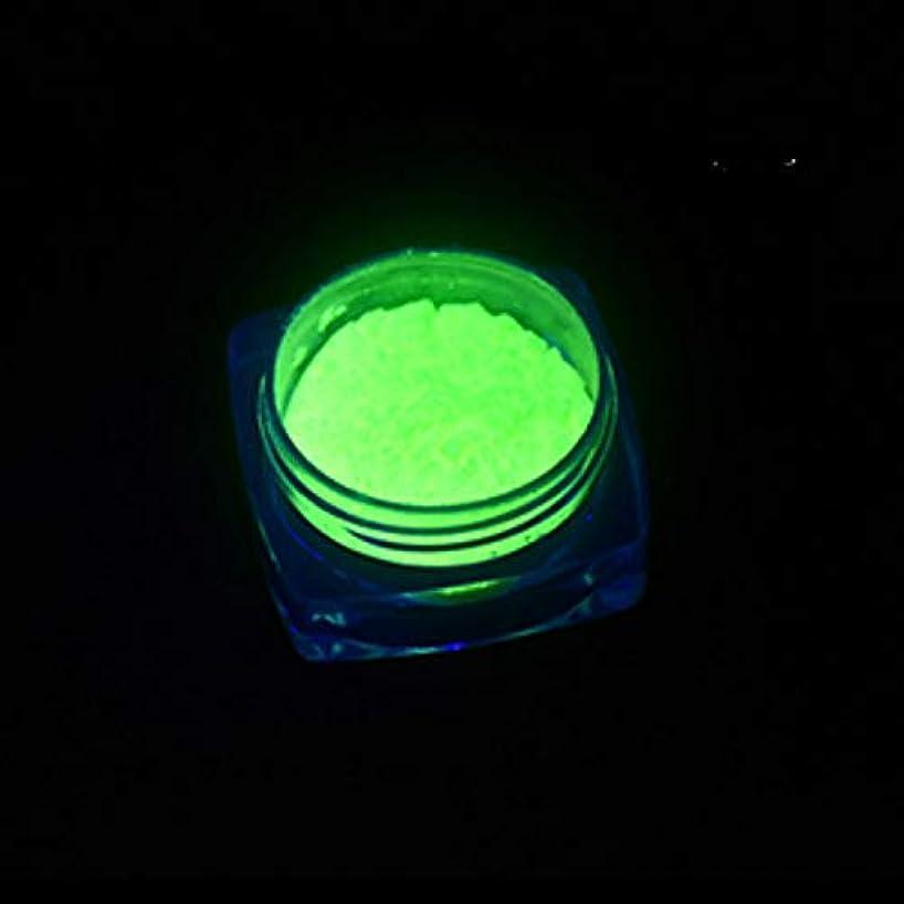 虎応じる上がるビューティー&パーソナルケア 3 PCSネオン蛍光体粉末ネイルグリッターパウダー ステッカー&デカール (色 : YGF09 Light Green)