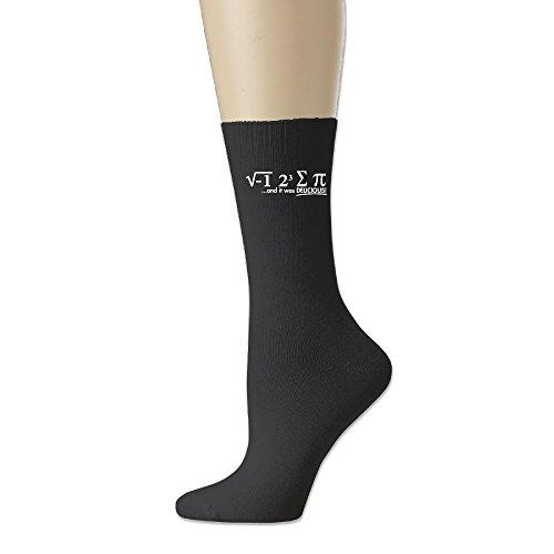 ソフト 靴下 アンクルソックス 円周率 おいしい プリント フットサポート付き ソックス くるぶし丈 実用的 ファッション ブラック