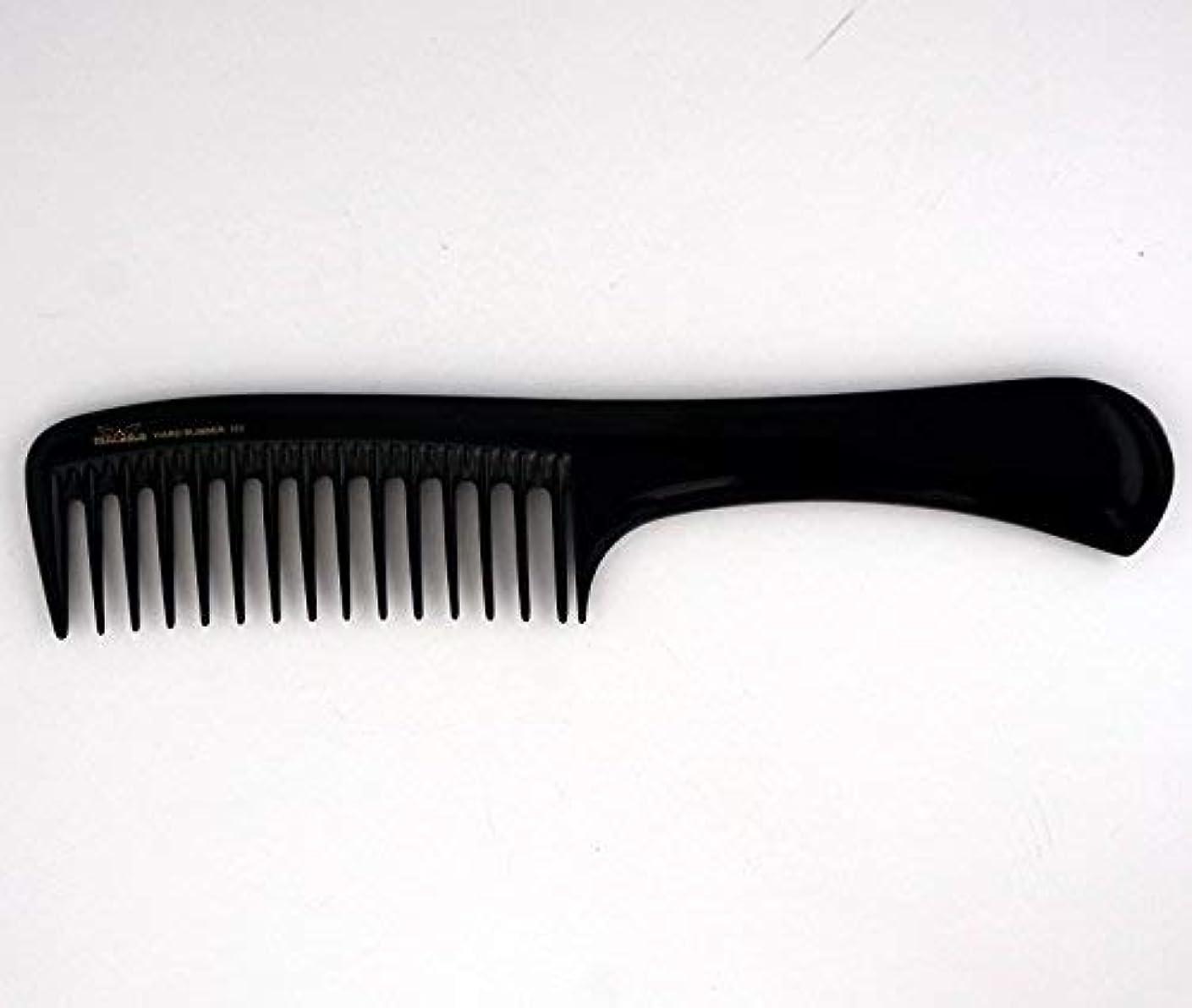勘違いする用心する検査9in, Hard Rubber, Wide Tooth Handle Comb [並行輸入品]