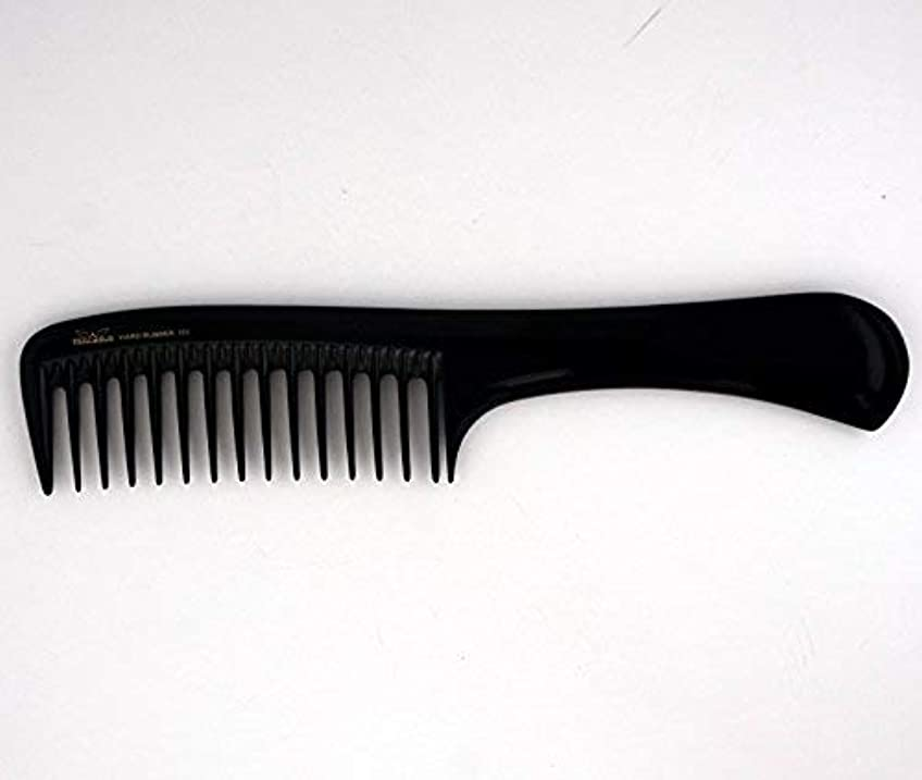 器具閉じる円形9in, Hard Rubber, Wide Tooth Handle Comb [並行輸入品]