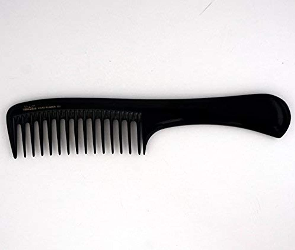 9in, Hard Rubber, Wide Tooth Handle Comb [並行輸入品]