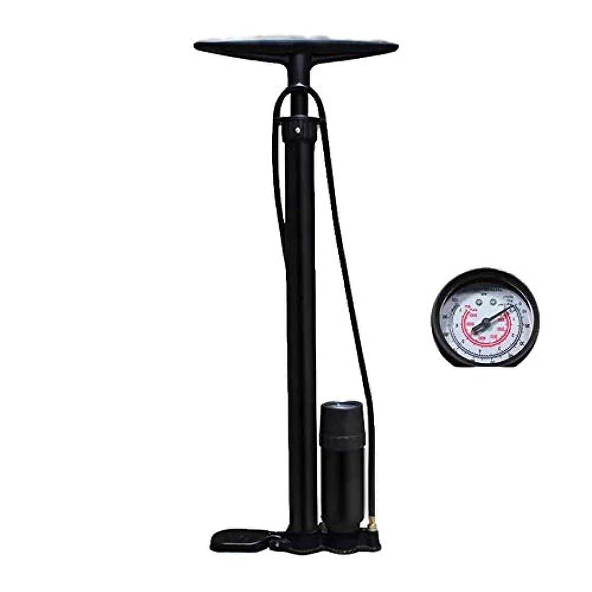 取り付け恨みマカダム自転車用ポンプ 高圧バイクの立場の床ポンプScharder及びPrestaはゲージが付いている100のPSIの床ドライブを弁で囲みます 耐久性高 多機能 (色 : ブラック, サイズ : 60cm)