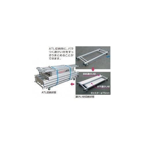 ピカコーポレイション パイプ製足場ハッスルタワーATL連けい材収納わく用台車 ATL-RDWA