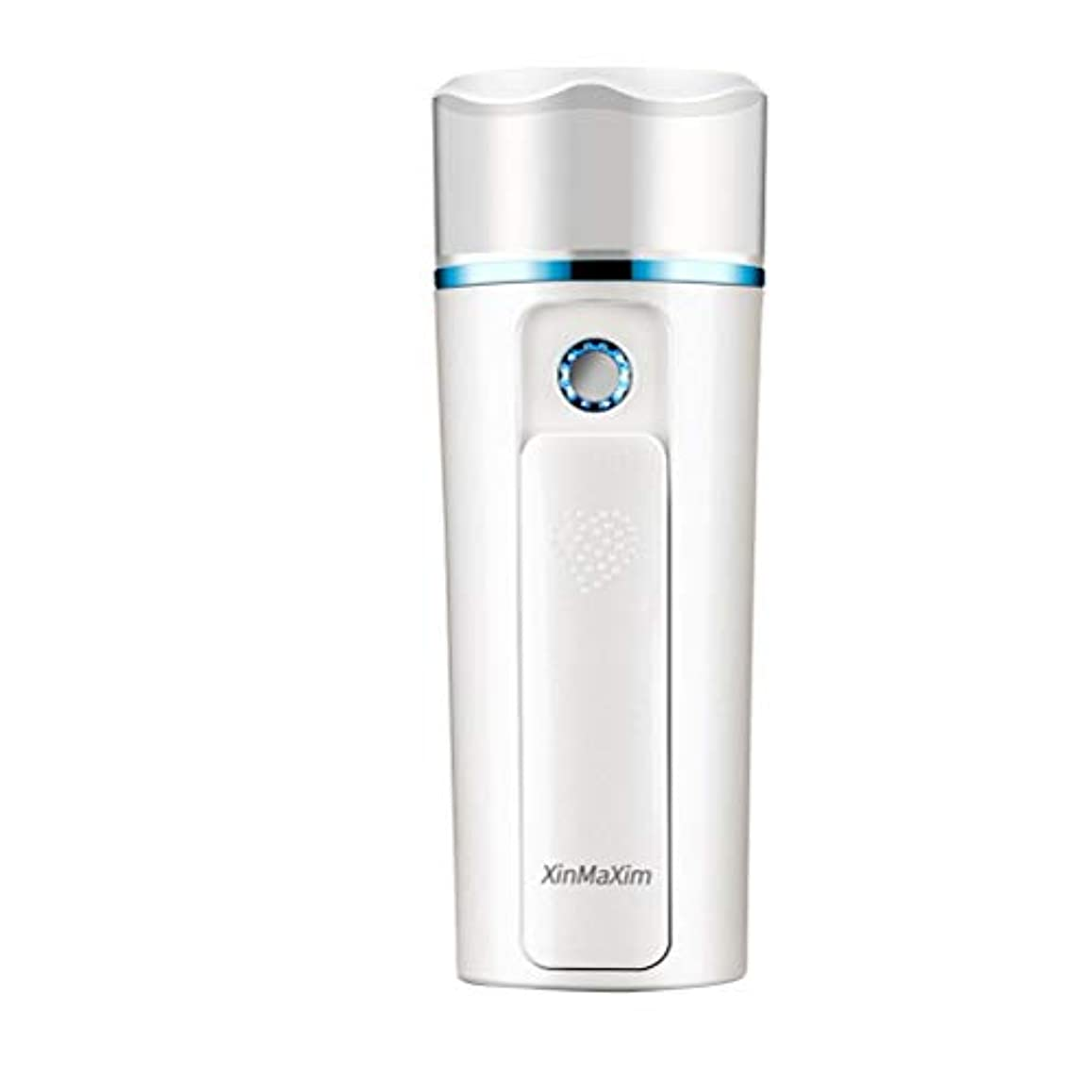 ロゴ電気的側面Healifty 補水美容器 フェイススチーマー ナノミスト美顔器 スキンケア 美顔スプレー 噴霧式 ミニ携帯 家庭 旅行 オフィス 充電式 ナノイオンミスト