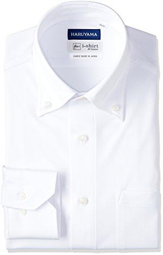 (はるやま) HARUYAMA(ハルヤマ) i-shirt 完全ノーアイロン 長袖 ボタンダウンアイシャツ M151180042 01 ホワイト L84(首回り41cm×裄丈84cm)