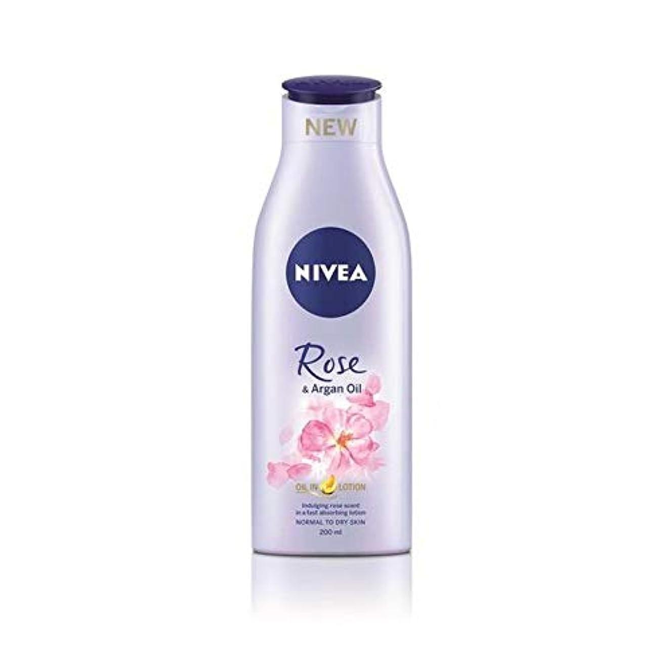 爆発物アラーム気味の悪い[Nivea ] ニベアは、ローズ&アルガンオイルボディローション200Ml - Nivea Rose & Argan Oil Body Lotion 200ml [並行輸入品]