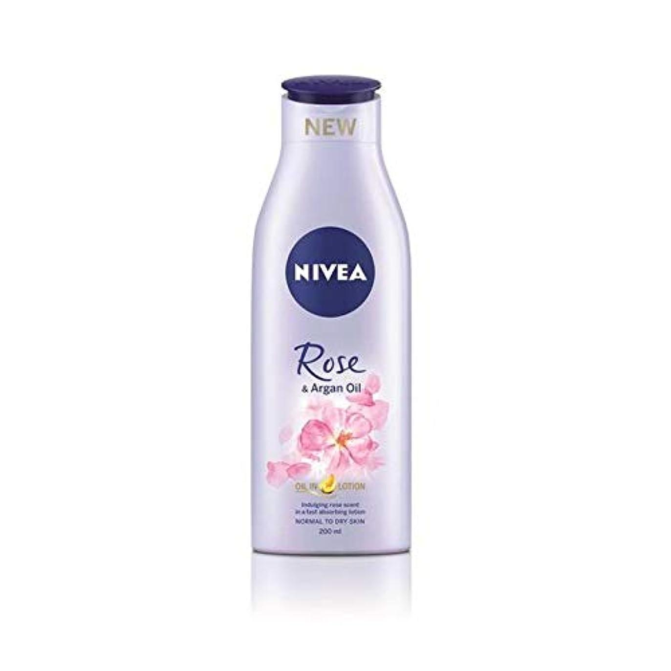 出くわす感情放出[Nivea ] ニベアは、ローズ&アルガンオイルボディローション200Ml - Nivea Rose & Argan Oil Body Lotion 200ml [並行輸入品]