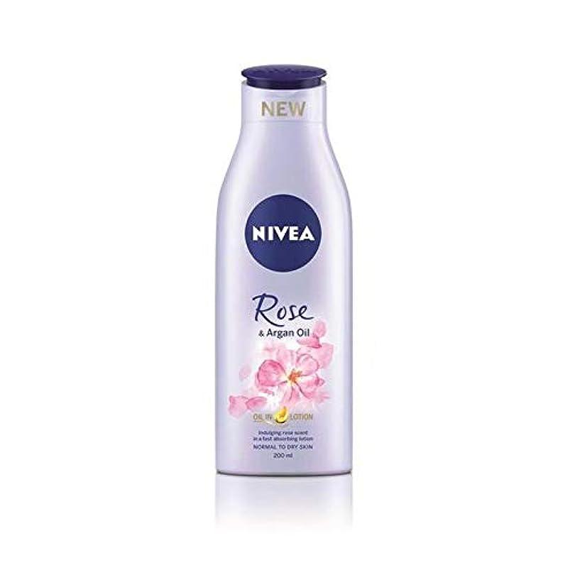 九彼容量[Nivea ] ニベアは、ローズ&アルガンオイルボディローション200Ml - Nivea Rose & Argan Oil Body Lotion 200ml [並行輸入品]