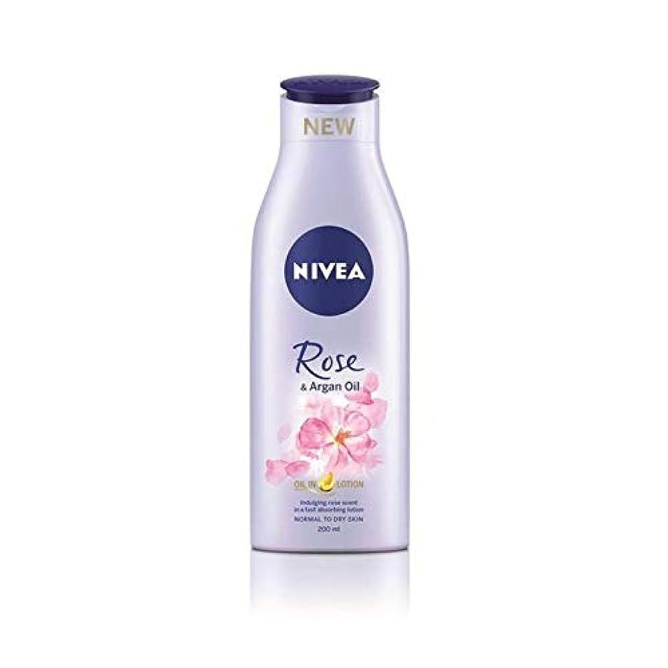 個人リーン公使館[Nivea ] ニベアは、ローズ&アルガンオイルボディローション200Ml - Nivea Rose & Argan Oil Body Lotion 200ml [並行輸入品]