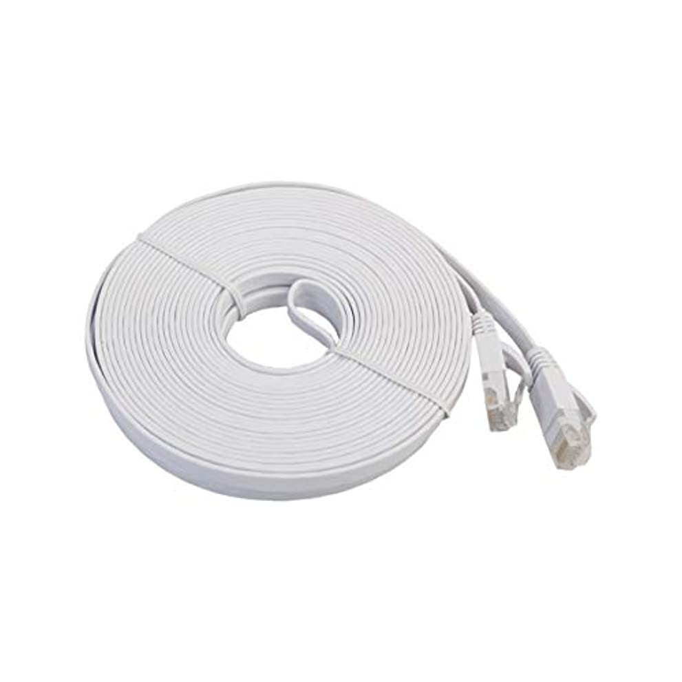道路を作るプロセス叫び声パステルCAT6eフラットイーサネットネットワークLANケーブルホームオフィス用高速伝送ラップトップイーサネットケーブルパッチコード-ホワイト10M