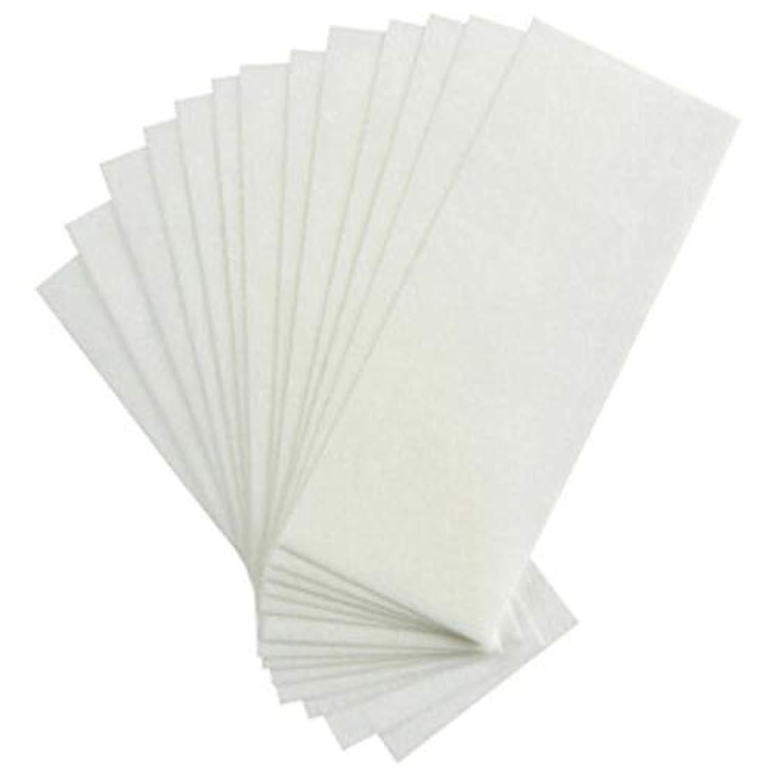 オデュッセウスメディアカフェテリア1st market 耐久性のある100ピース不織布ストリップ脱毛ワックスストリップフェイシャルボディ脱毛ワックスペーパー