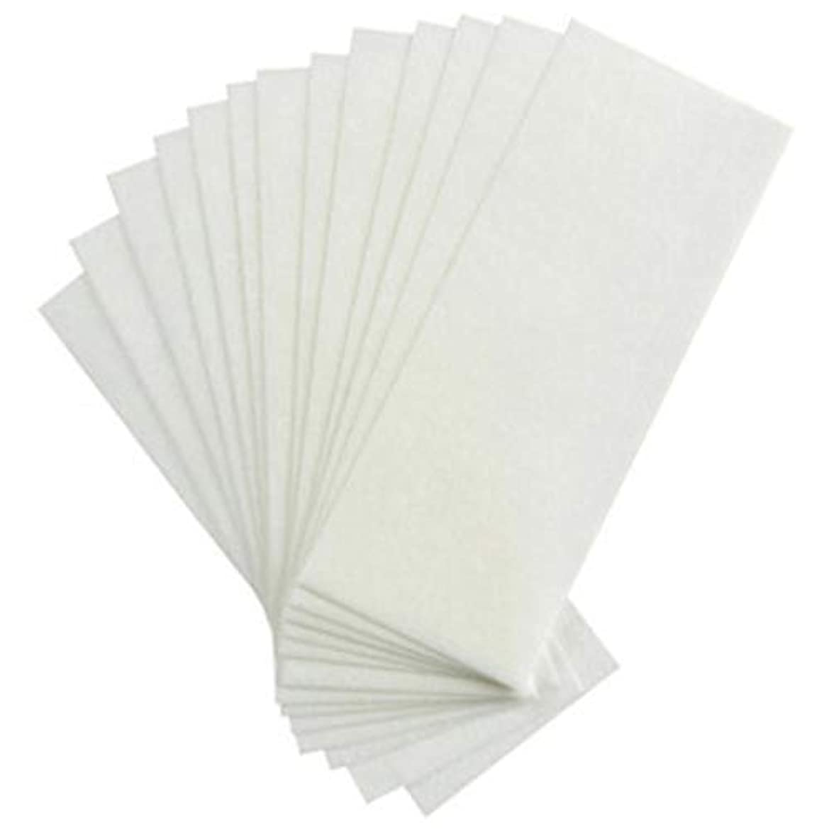 促進するパンフレットつづり1st market 100個の不織布ストリップ脱毛ワックスストリップフェイシャルボディ脱毛ワックスペーパースタイリッシュで人気のある