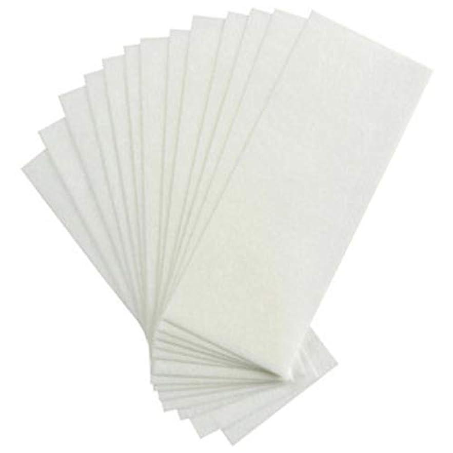 採用する収まるスマート1st market 100個の不織布ストリップ脱毛ワックスストリップフェイシャルボディ脱毛ワックスペーパースタイリッシュで人気のある