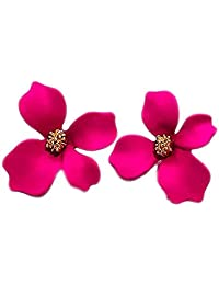 Niome Women's Girls 3D Flower Ear Stud Resin Earrings Wedding Party Jewellry Accessory