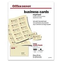 Office Depotマットビジネスカード、2インチx 31/ 2インチ、アイボリー、1, 000パック、23004
